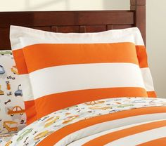 Micah's bball room? Rugby Duvet Cover | Pottery Barn Kids