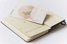 """The Little Prince Moleskine special edition.  """"What is essential is invisible to the eye""""  Antoine de Saint-Exupéry  http://www.moleskine.com/about_us/news/il_piccolo_principe.php"""