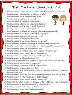 would you rather questions for kids | Download: 32-clean-would-you-rather-questions-with-qr-codes-for-kids ...