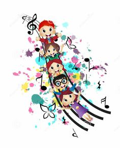 Music Pics, Music Artwork, Music Images, Music Pictures, Music For Kids, Art For Kids, Modele Flyer, Music Clipart, Kindergarten Design