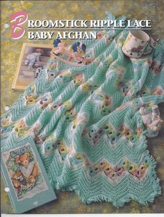 Broomstick Ripple Lace Baby Afghan Crochet Pattern~RARE - $49.99