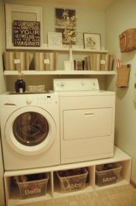 Great ideas on laundry pedestals that are diy.