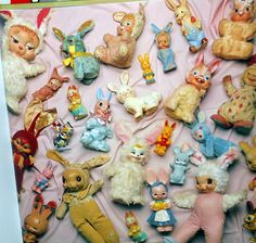 Bunnies. Extreme lower left corner -- Is that a proto-dunny??