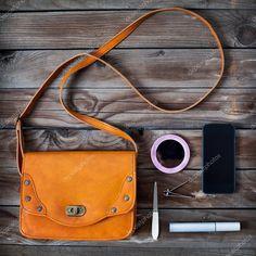 Вещи женщины сумка, сумочка — стоковое изображение #34923389