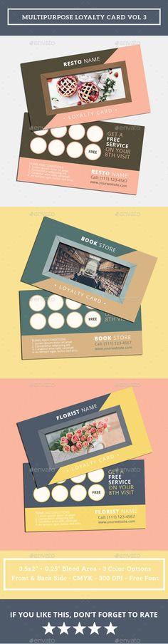 Multipurpose Loyalty Card Invitation Design Template Vol 3
