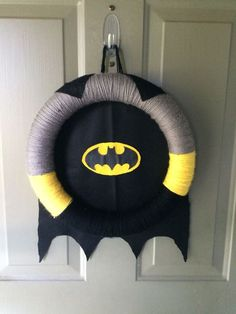 Batman-Birthday-Party-Ideas-for-kids-Batman-Door-Wreath