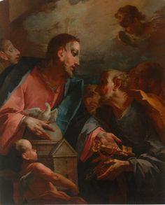 Cesare Ligari: Consegna delle Chiavi a S. Pietro.(Collezione banca Credito Valtellinese). Painting, Art, Art Background, Painting Art, Kunst, Paintings, Performing Arts, Painted Canvas, Drawings