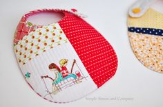 $5 Friday---Handmade Baby Bibs {Quilt-as-you-go} | Simple Simon and Company