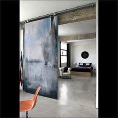Scopello, A fine art, contemporary door design by Sargam Griffin Sargam Griffin Contemporary ArtDoors™