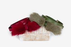 Leather and rabbit fur belt. Rabbit Fur, Leather Bag, Belt, Accessories, Belts, Leather Satchel, Arch