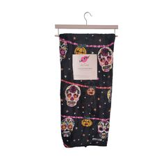 """Luv Betsey Sugar Skulls Ultra Soft Throw Blanket *Closeout Deal* •Black •All Over Print •Approx. 50"""" x 60"""" •100% Polyester •Imported •Sold by Stella Saksa •Brand New Betsey Johnson, Plush, Sugar Skulls, Blanket, Things To Sell, Collection, Candy Skulls, Sugar Skull, Rug"""