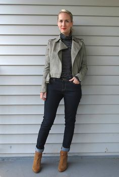 poetic justice jeans, jeans for women with big hips, lucky b boutique indianapolis, gray moto jacket, guess cutout ankle boots