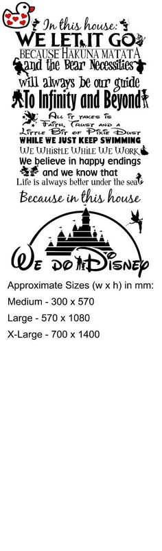 We Do Disney Style Quote In This House Rules Vinyl Wall Art Sticker Mural UK in ... - http://centophobe.com/we-do-disney-style-quote-in-this-house-rules-vinyl-wall-art-sticker-mural-uk-in/ -  - Looking for a change for your walls? http://centophobe.com/we-do-disney-style-quote-in-this-house-rules-vinyl-wall-art-sticker-mural-uk-in/