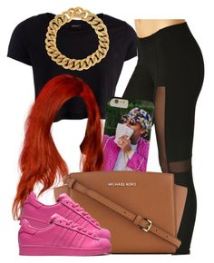 """""""❤️"""" by newtrillvibes ❤ liked on Polyvore featuring Pieces, MICHAEL Michael Kors, Yves Saint Laurent, women's clothing, women's fashion, women, female, woman, misses and juniors"""