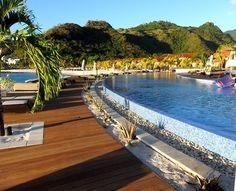 Poolside at Buccament Bay Resort, St Vincent & The Grenadines    #Travel