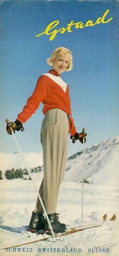 vintage ski poster - Gstaad