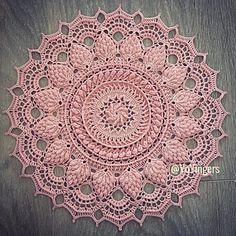 Ravelry: Moira Pattern By Grace Fearon - Diy Crafts - Qoster Mandala Au Crochet, Free Crochet Doily Patterns, Crochet Doily Rug, Crochet Dollies, Crochet Tablecloth, Thread Crochet, Diy Crafts Crochet, Crochet Home, Crochet Projects