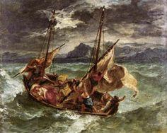 Eugène Delacroix, Christ on the Lake of Gennezaret