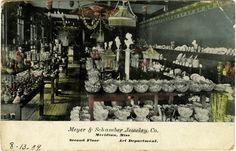 """Cooper Postcard Collection  """"Meyer & Schamber Jewelry Co. Meridian, Miss. Second Floor Art Department."""""""