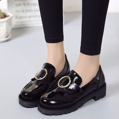 Fashion Korean Women's Flats Leather Heels Comfort Casual Breathable Shoes