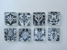 Damask Fridge Magnets  Fun  Mix Refrigerator Magnets by DLRjewelry