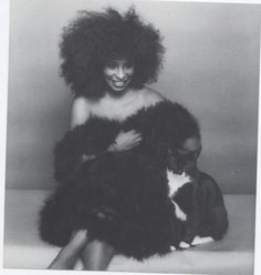 Chaka Khan and a handsome boy in a tuxedo. (Found on her FB page).