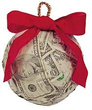 cute way to give money as a Christmas gift....great for kids! ~ For the office exchange!