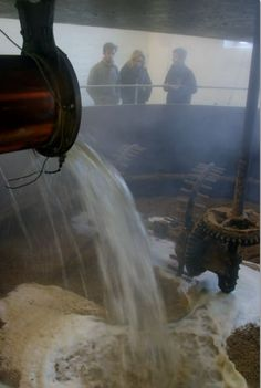 Filling the mash tun