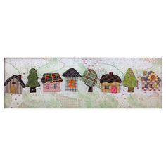 Reiko Kato's delightful little houses and trees. Compatible with the Accuquilt GO! Baby, Go and the (Studio with adapter).