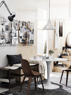 Beautiful living kitchen Ikea compact living - via Coco Lapine Design Interior Design Blogs, Interior Inspiration, Stil Inspiration, Ikea Design, Diy Design, Modern Design, Blog Design, Design Trends, Ikea Living Room