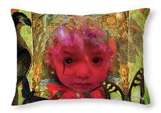 Pseudoscientific Throw Pillow featuring the digital art Indigo Child by Joseph Mosley
