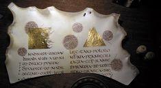 b.wilinska, atrament z orzecha włoskiego i złoto na pergaminie