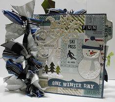 Winter Fun Paper bag Scrapbook Album!