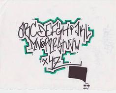 Guardian Graffiti Art: Graffiti Alphabet Letters on Paper by Atomicmufin - Tag/Schriftzug/Graffiti - Graffiti Alphabet Styles, Graffiti Lettering Alphabet, Graffiti Words, Graffiti Writing, Tattoo Lettering Fonts, Graffiti Designs, Font Art, Doodle Lettering, Graffiti Styles