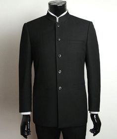 Chinese collar suit