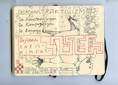 moleskine notebook on ink 2013
