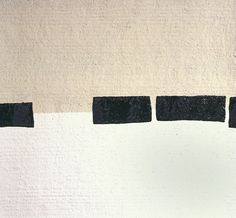 """minimal abstract painting - original modern painting - neutral - geometric - black and white. """"stone blind"""""""