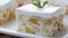 Greek Sweets, Greek Desserts, Greek Recipes, Easy Desserts, Icebox Desserts, Peanut Butter Balls, No Bake Cake, Summer Recipes, Vanilla Cake