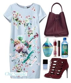 """06.09.15"" by malenafashion27 ❤ liked on Polyvore featuring 3.1 Phillip Lim, Alexander McQueen, Crate and Barrel, Maybelline, LORAC and Witchery"