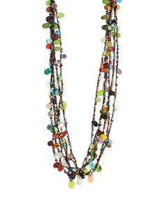 Another great find on #zulily! Black & Blue Beaded Deco Multistrand Necklace #zulilyfinds