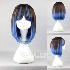 Short Bob Charm Lolita Color Mixed Straight Anime Cosplay Wig COS 273A | eBay