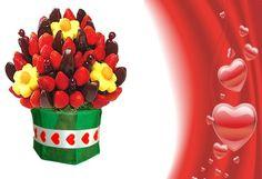 Un dulce detalle para San Valentin!  Bs. 78 en vez de Bs. 130 por un delicioso arreglo sorpresa de Frutimania