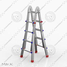 Aluminum Ladder Obj - 3D Model