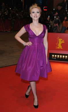 Scarlett Johansson Purple Dress