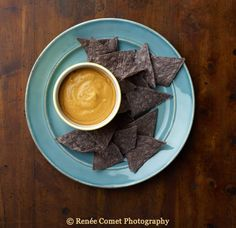 From The Great Vegan Bean Book. Vegan queso made with a base of white beans and cashews.  #vegan #kathyhester #thegreatveganbeanbook