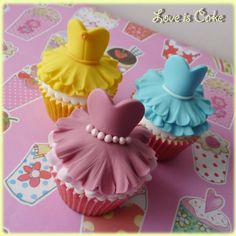 Disney Princess themed Cup Cakes by Love Is Cake, Derby- Maybe I could start with something this small.