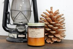 campfire special - 7.5 oz soy wax candle - burns for forty hours pommes frites candle co. - captures firewood & camping memories