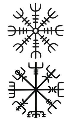 """Ok- vegvisir and the helm of awe stacked, ~3-4"""" long on my ribs. Finally, an idea that doesn't clash with my other ink!"""