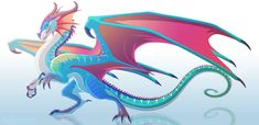 Glory of RainWings- Wings of Fire fanart by Dinkysaurus on DeviantArt Wings Of Fire Dragons, Cool Dragons, Fantasy Creatures, Mythical Creatures, Dragon Poses, Fire Drawing, Wings Drawing, Fire Rocks, Manga Dragon