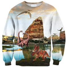 Dinosauria Sweater Front